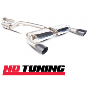 "Focus ST 2.5 Turbo Scorpion 63.5mm/2 1/2"" Cat Back System Exhaust Black Tailpipe SFD069"