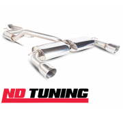 "Ford Focus ST 225 Turbo Scorpion 63.5mm/2.5"" Cat Back Exhaust Silver SFDS069"