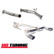 """Scorpion 3""""/76mm Ford Mk2 Focus RS Full Turbo Back Exhaust with Decat Black Tips"""