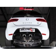Seat Leon Cupra R 2.0 TSI Milltek Turbo Back with Dual 100mm tailpipe (SSXSE142)