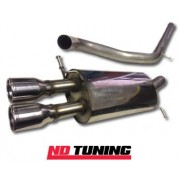 Volkswagen Polo GTi 1.8T Milltek Cat back With Twin 76 2mm Jet Tailpipe non resonated