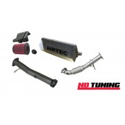 Ford Focus RS Mk2 Stage One Black Intercooler, Decat, Downpipe and Air Filter Package Deal