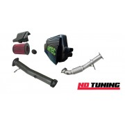Ford Focus RS Mk2 Stage One Polished Intercooler, Decat, Downpipe and Air Filter Package Deal