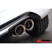 Peugeot 208 GTi 1.6 Resonated Milltek Exhaust Cat-back Twin 80mm GT80 tailpipe