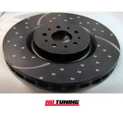 Peugeot 207 1.6 Turbo EBC D Series Premium OE Front Replacement Discs 25mm Bearing Bore