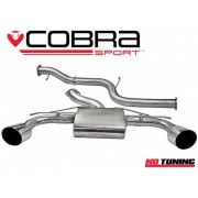 Ford Focus RS MK2 Cobra Non Resonated Cat Back System