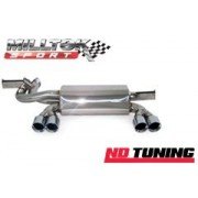 BMW 3 Series E46 M3 CSL Milltek Rear Silencer with Quad 80mm Special tailpipe (SSXBM934)