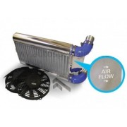 AIRTEC RS500 Style S2 Front Mount Intercooler Kit With Reverse Charge Carrier - Polished Finish