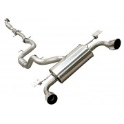 Ford Focus RS Mk2 Mongoose Full Stainless Exhaust System with Decat
